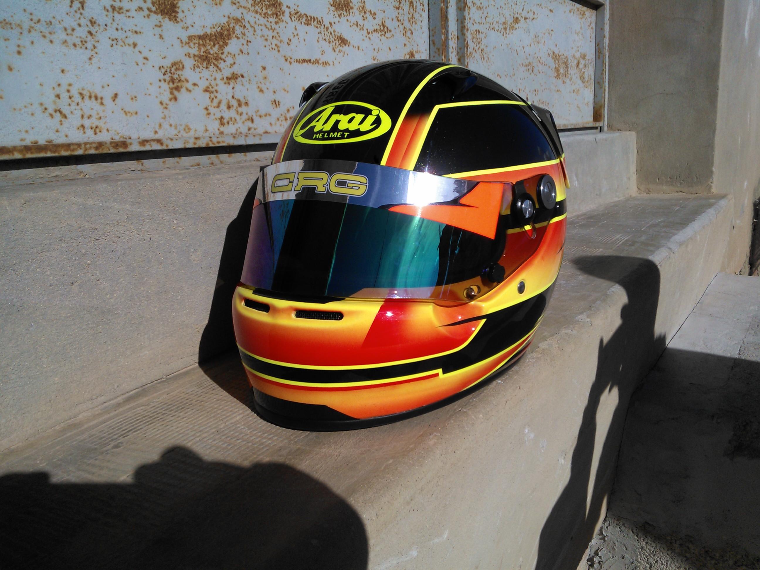 Pintura Casco Arai SK5 Karting