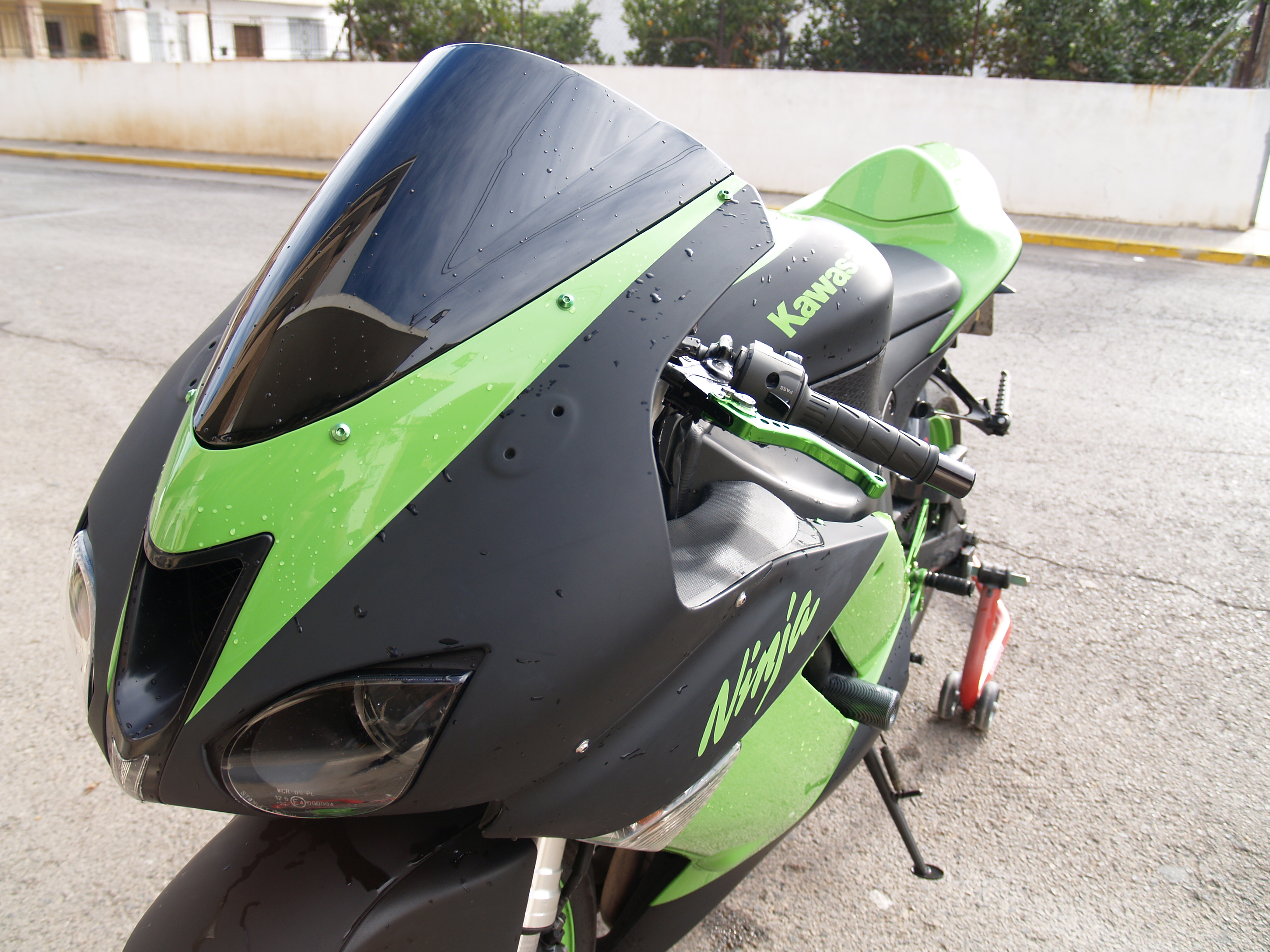 Pintura moto Kawasaki ZX6-R Verde/Negro