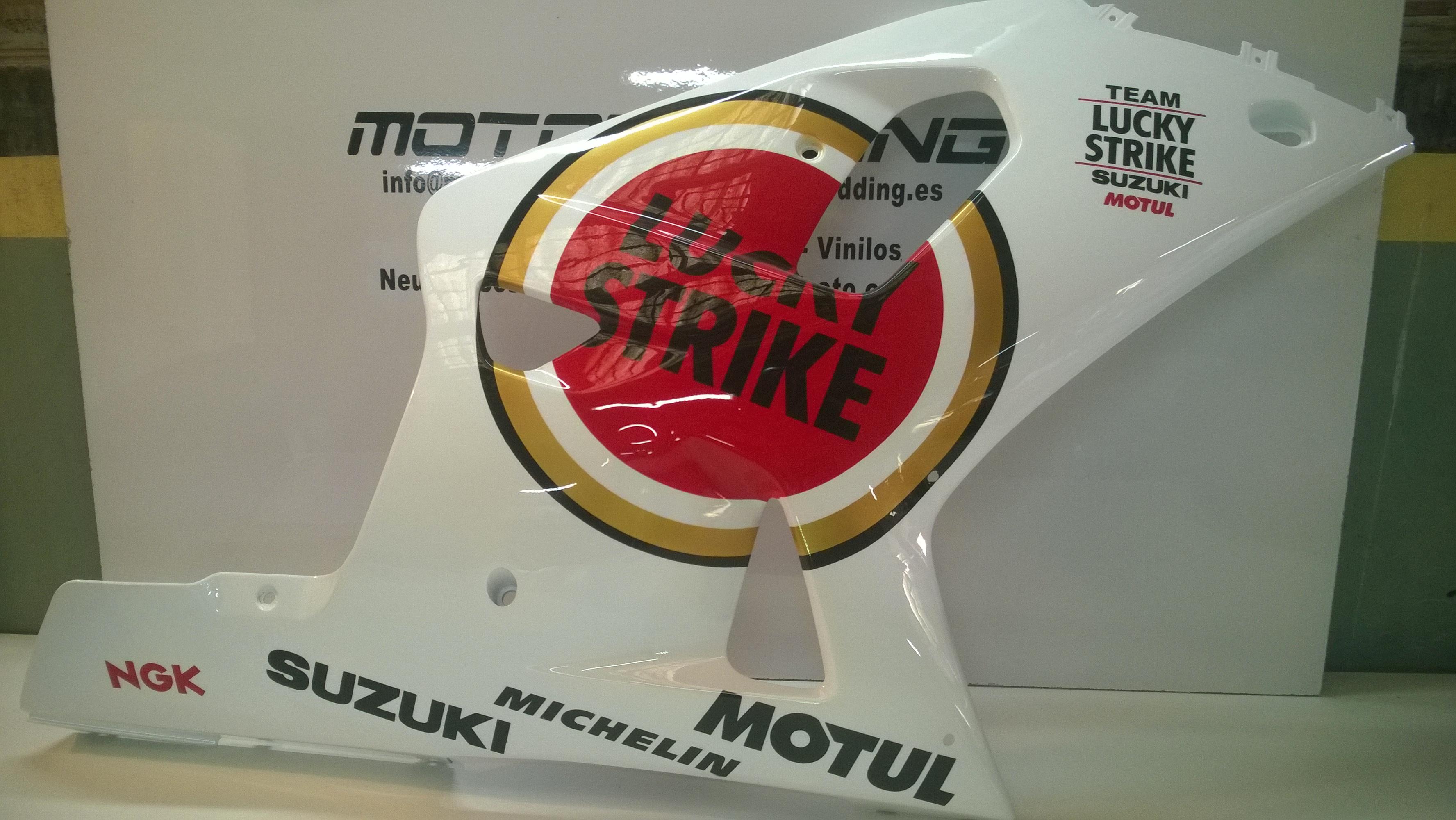 Pintura Suzuki gsx-r 750 k1 réplica Kevin Schwantz