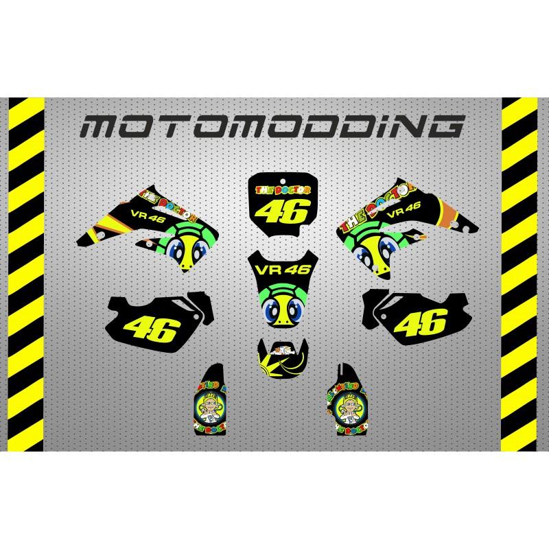 pegatinas-honda-cr-85-valentino-rossi Especialistas en vinilos para motos, vinilos para cascos, vinilos para bicicletas.